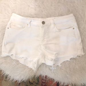White Womens Blank NYC Denim Cutoff Shorts 26